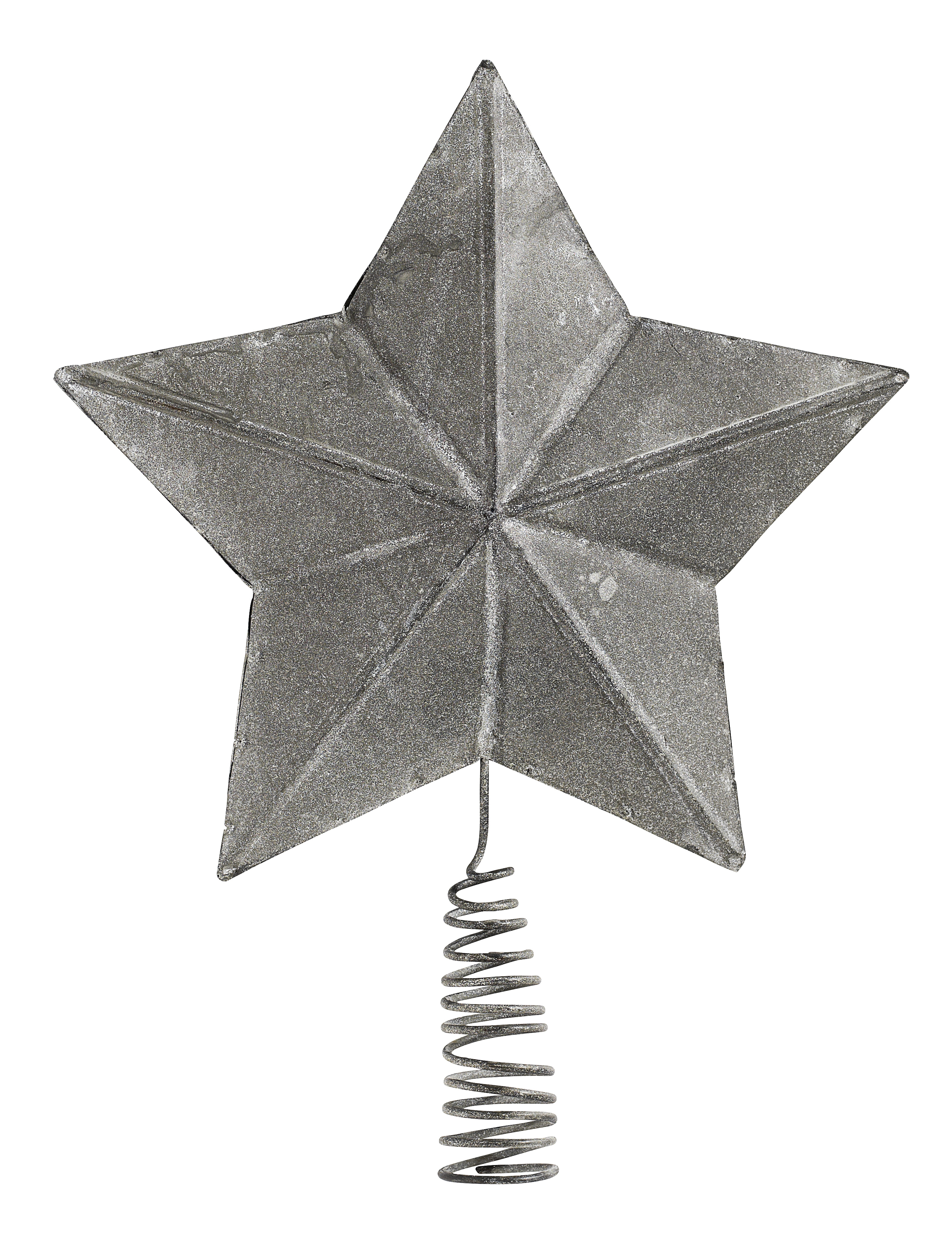 Superior Star For Tree Part - 8: Metal Christmas Star For Tree, Raw