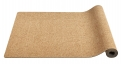 YOGA mat, natural rubber cork, black