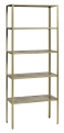 JUNGLE rack, marble,5 shelves, ant.gold
