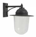 Outdoor lamp for wall, black finish