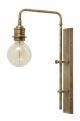 Wall lamp for deco bulb, brass, large