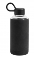 Glass bottle w. silicone sleeve, black