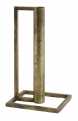 Candle holder, cubic, antique brass