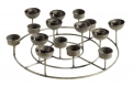 Round t-light+candle holder, ant.