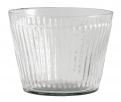 Glass vase/planter, grooves, low