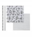 Paper gift roll, birds, 2 assorted