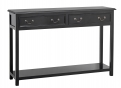 Console w/2 drawers, black