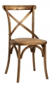 Dinner chair X, natural, wooden