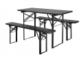 Table/bench set, black, s/3, S