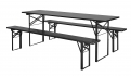 Table/bench set, black. s/3, L