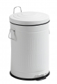 Trash can, white, round, 20L