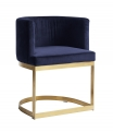 LOUNGE dinner chair, dark blue