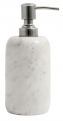 Soap dispenser, white marble/silver top