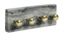 Necklace rack w/knobs, black marble