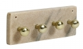 Necklace rack w/knobs, rose marble