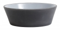 Stoneware bowl, black/white, S