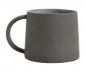 Stoneware mug, black/white