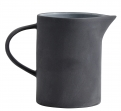 Stoneware pitcher, black/white
