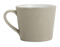 Stoneware mug w. handle, beige/white