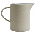 Stoneware pitcher, beige/white