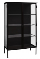Cabinet iron and glass w/2 doors, black