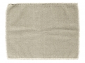 Placemat, light grey, raw edging