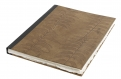 Notebook, leaves, leather, large