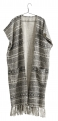 Poncho open front w/ethnic print