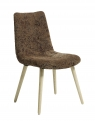 Dinner chair, flower pattern,light brown