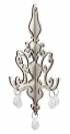 Ornament w/beads, white, small