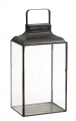 Black lantern, rectangular, small