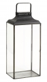 Black lantern, rectangular, large