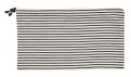 Pouch w/zipper, large, horizontal stripe