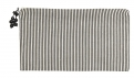 Pouch w/zipper, large, vertical stripes