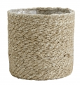 Jute rope basket with pvc inside, S