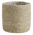 Jute rope basket with pvc inside, L