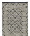 CHINDI woven rug, leather/cotton