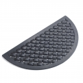 Doormat, weaving, half round, black rubb