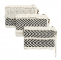 Clutch, off white cotton, 3 designs