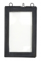 Photo frame f/hanging, small, black