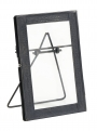 Photo frame f/standing, small, black