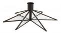 Candle holder, star, large, black