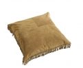 HIPPIE leather cushion cover, l.brown S