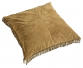HIPPIE leather cushion cover, l.brown L