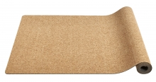 YOGA mat, natural rubber w. cork, black