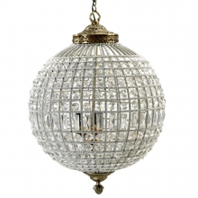 Crystal lamp, glass beads, large ball