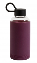Glass bottle w. silicone sleeve,darkpurp