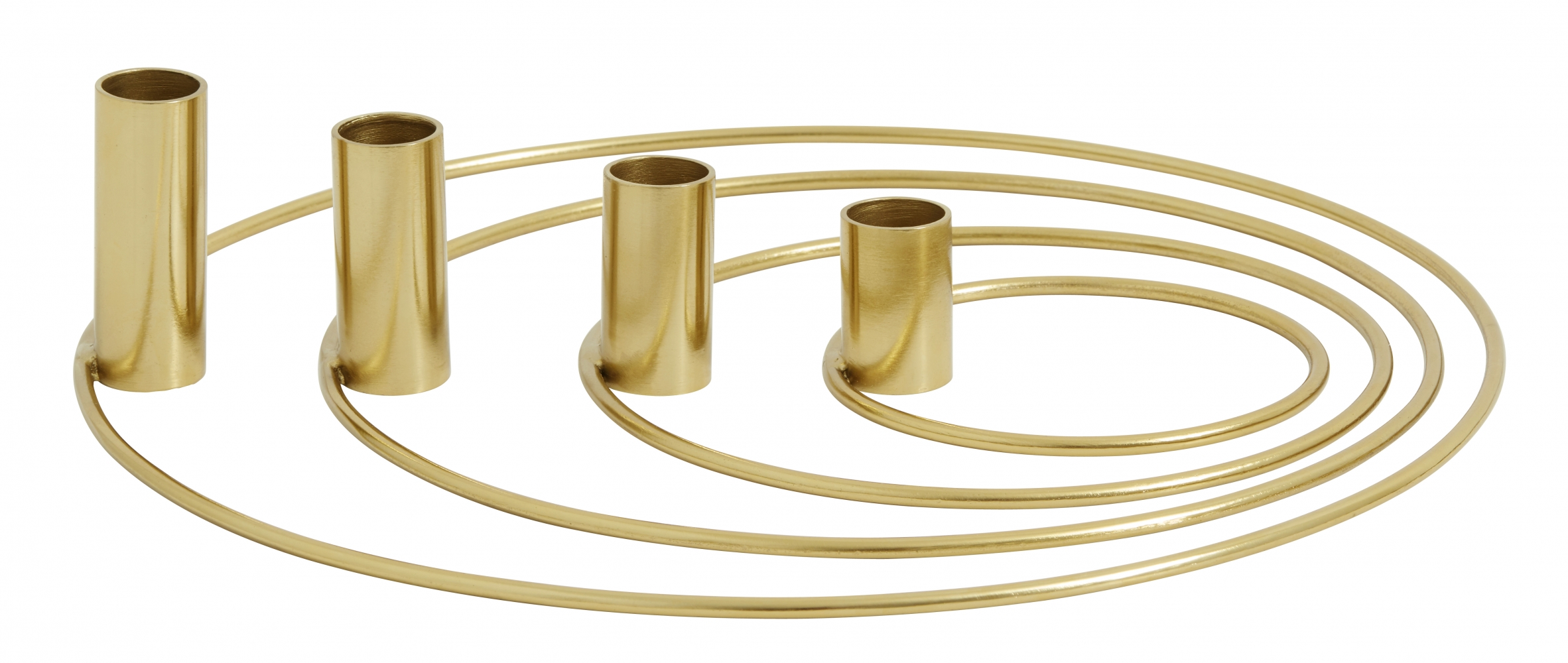 Ring Advent Candle Holders Set 4 Brass Nordal Eu